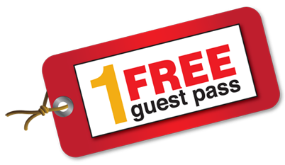 Get you FREE one-time guest pass!